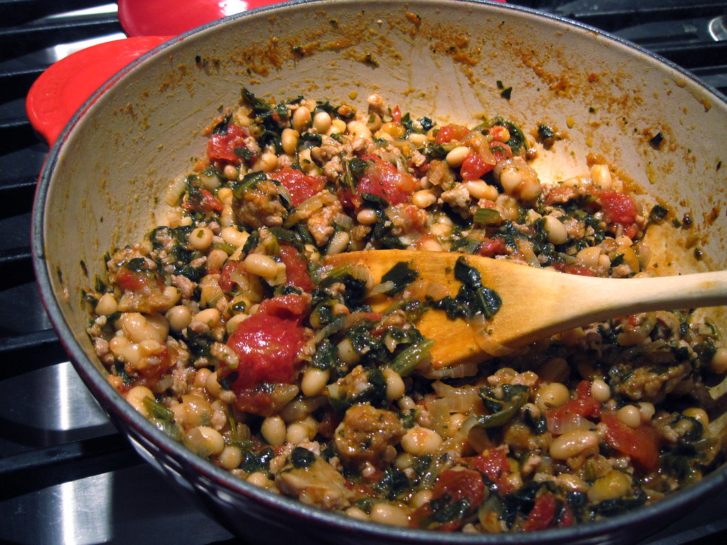 sausage and white bean ragout