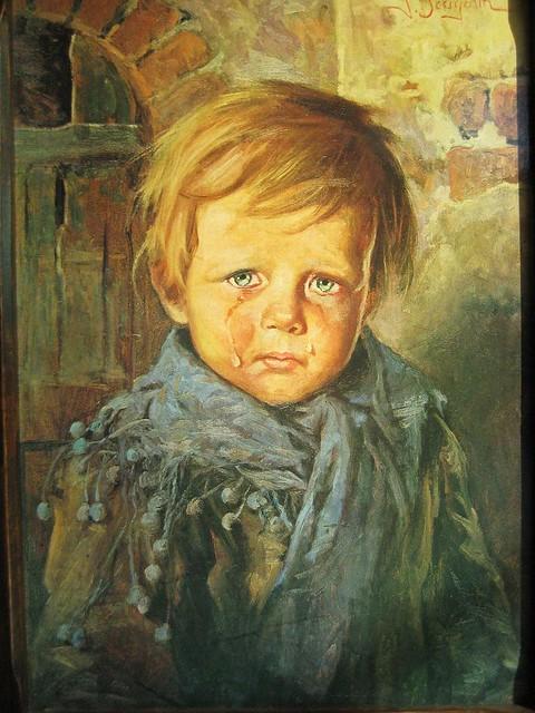 Las pinturas malditas: los niños llorones
