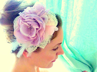 linenwood - Bridal Cocktail Hat / Facinator