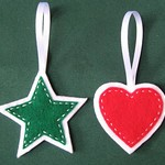 Felt Star and Heart Ornaments 1