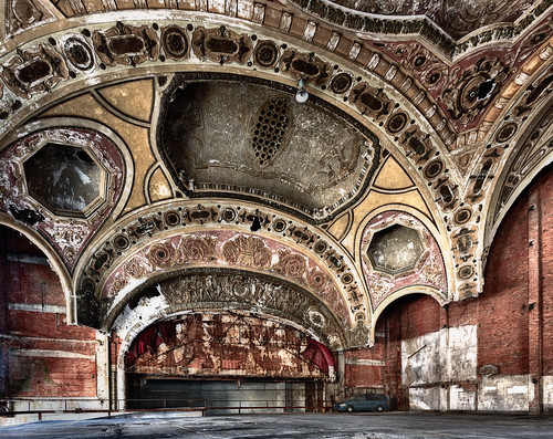 ford mi john demo automobile theater arch parkinggarage michigan parking detroit ceiling demolished crouch