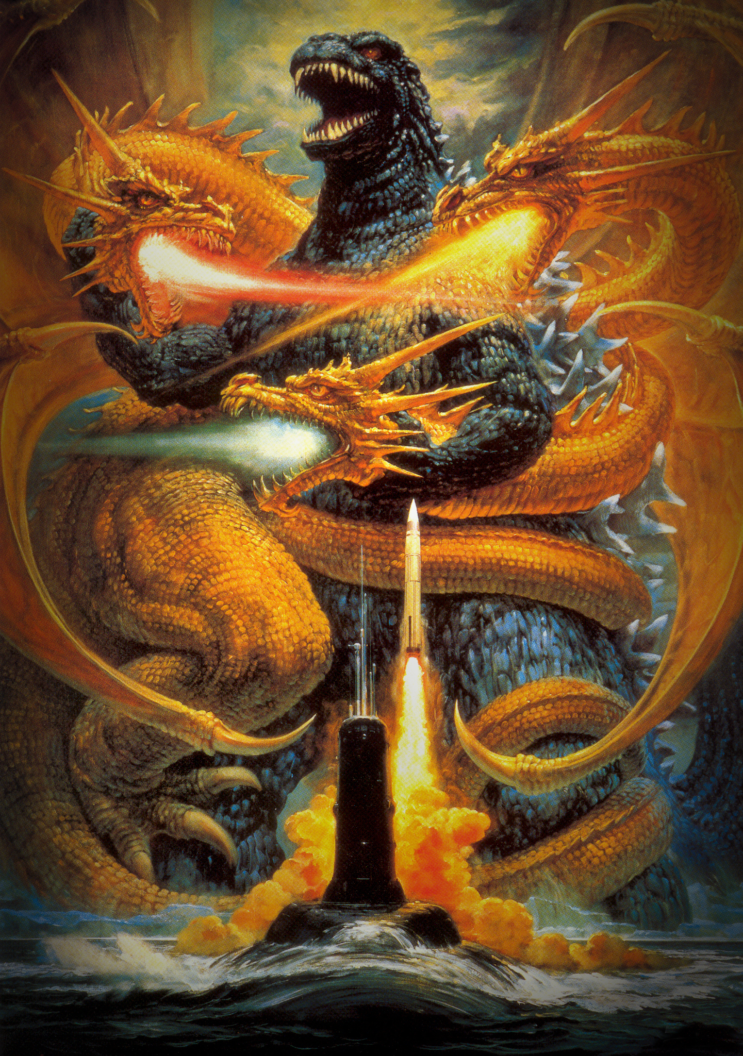 Godzilla vs King Ghidorah (Toho, 1991) | Flickr - Photo Sharing!