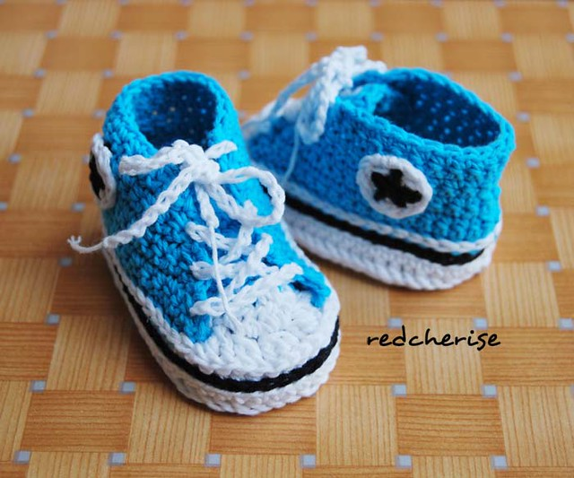 Crochet Baby Converse Blue Flickr - Photo Sharing!