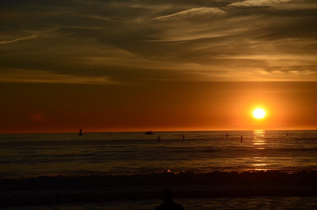 Пляж Санта Моника, США.