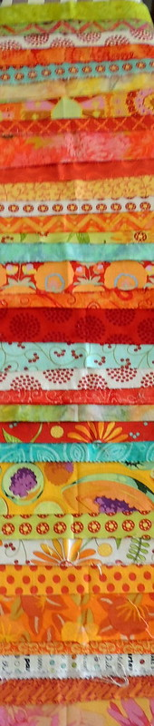 Fabric Strips for making yardage