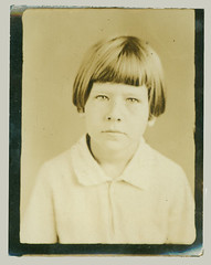 Photobooth portrait of a girl