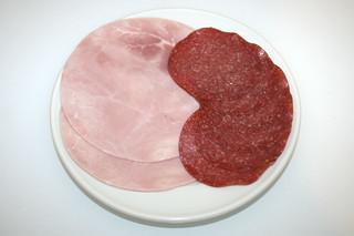 09 - Zutat Salami & Schinken / Ingredient salami & ham