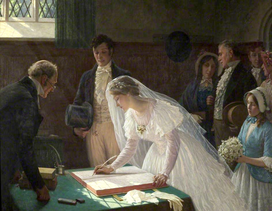 The Wedding Register by Edmund Blair Leighton