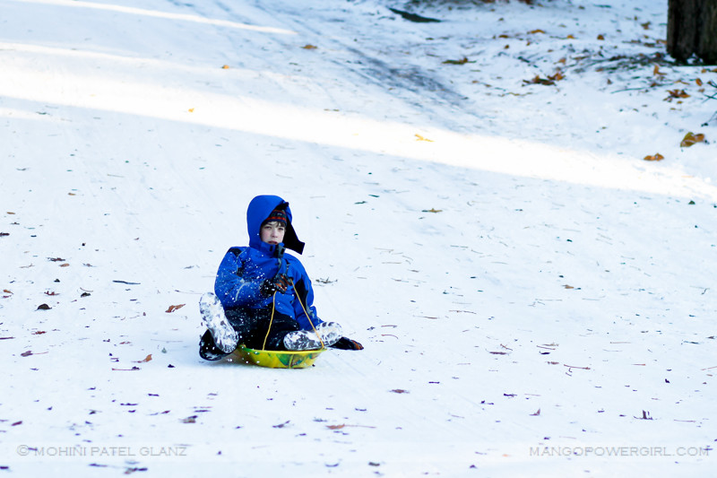 all bundled up sledder