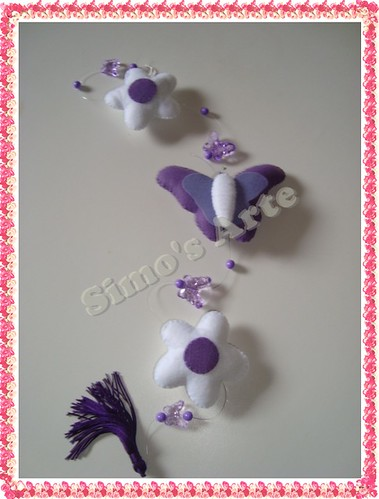 Mobile borbo e flor by Artes by Simo's®
