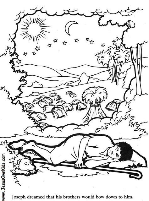Coloring Pages For Joseph S Dreams : Joseph dreams coloring pages