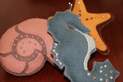 Felt Pin Cushion Sea Creatures