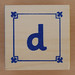 Block Lowercase Letter d