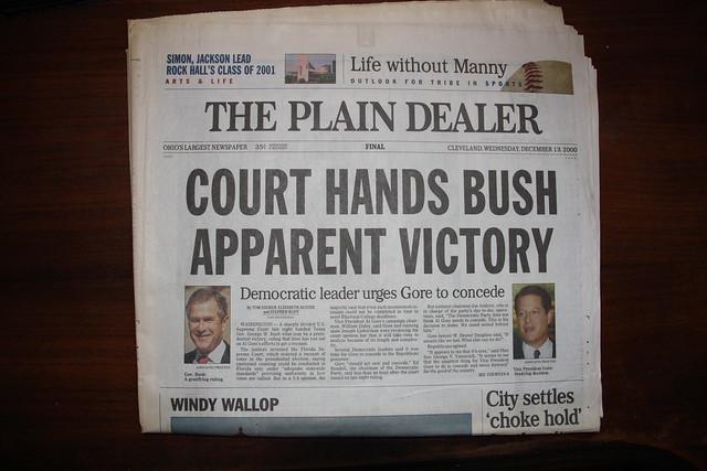 bush v gore 2000 Brett kavanaugh florida ties: elian, 2000 vote recount, terri schiavo  bush v  gore catapulted kavanaugh's career he joined the bush white.