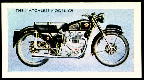Tradecard - Matchless G9 Motorcycle