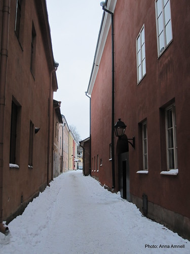 Medieval Street in Turku, Finland by Anna Amnell