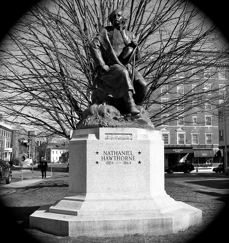 Hawthorne in Bronze, Salem, MA.