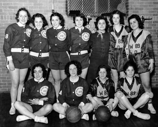 The ILGWU women's basketball team at the Bronx Branch Athletic Club