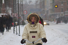 Snowstorm Hoody - Winter Cycling in Copenhagen