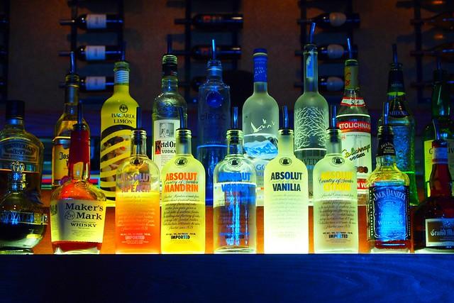 Pop art liquor bottles flickr photo sharing for Liquor bottle art
