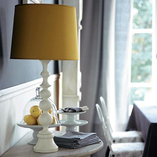 housetohome mustardlampshade&gray