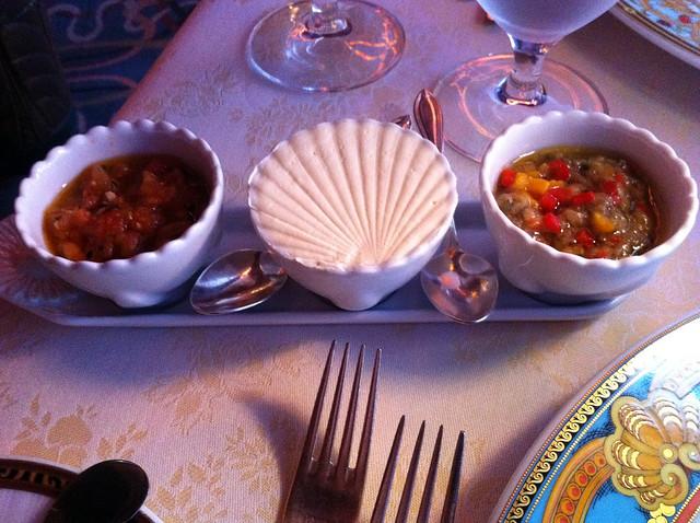 Nouveau Steakhouse - Tomato Confit, Butter, Eggplant Tapenade | Flickr ...