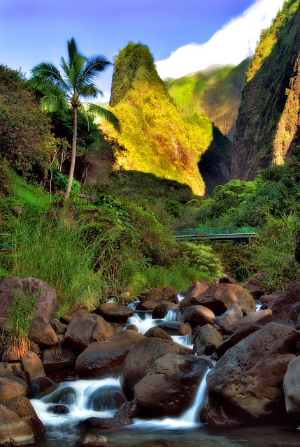 'Iao Valley State Park Needle Maui Hawaii Tropical