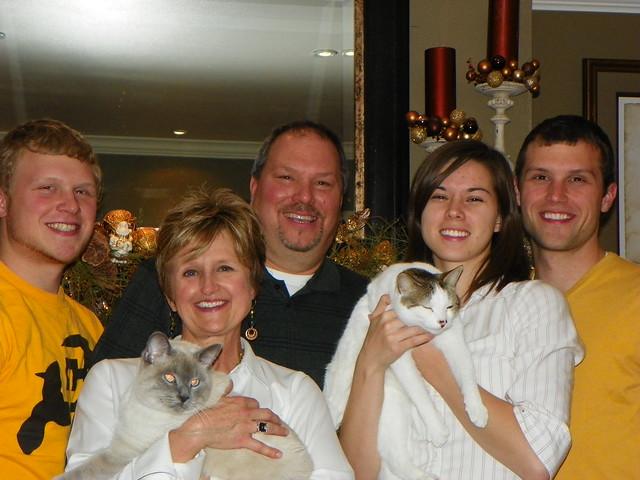 family + cats photo