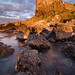 A portrait of Dunure castle