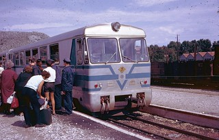 JZ narrow-gauge railcar at Capljina in 1968