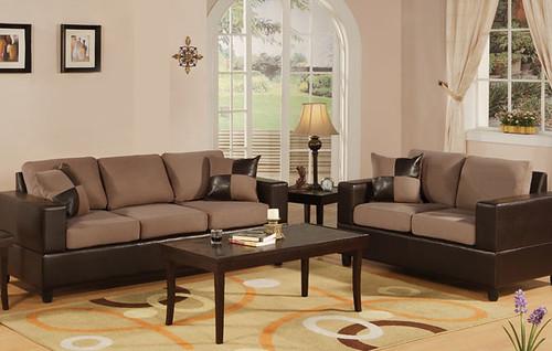 Saddle Microfiber Sofa & Loveseat $649.00