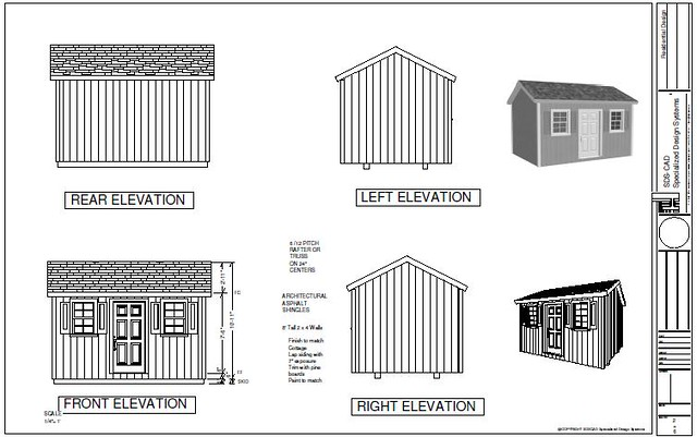 PDF Shed Plans - G473 10 X 14 X 8 garden shed plans