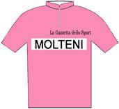 Molteni - Giro d'Italia 1966 - La maglia rosa del vincitore Gianni Motta