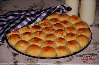 Bread rolls, stuffed with  Feta cheese!..