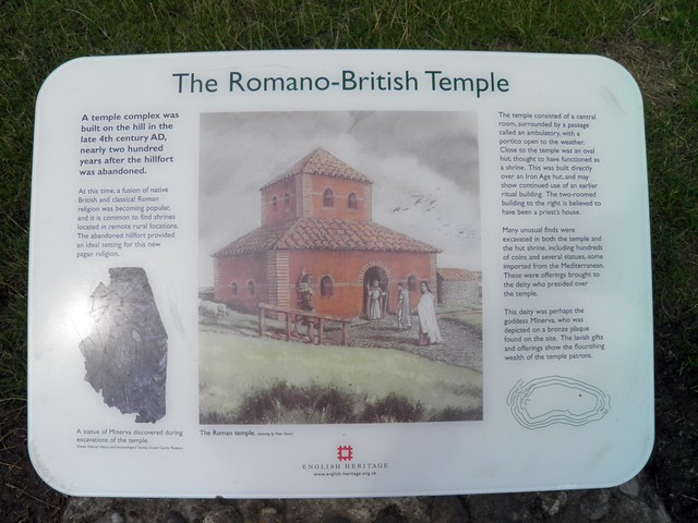 The Roman-British Temple, Maiden Castle, Dorset