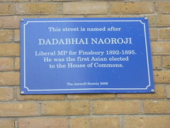 Photo of Dadabhai Naoroji blue plaque