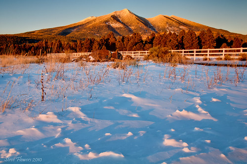 winter arizona flagstaff sanfranciscopeaks hdr alpenglow freshsnow nikond90 nikoncircularpolarizer