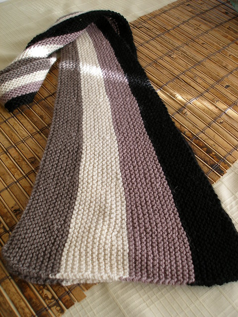 Vertical Striped Scarf Knitting Pattern : Wedge Vertical Stripe Scarf Flickr - Photo Sharing!