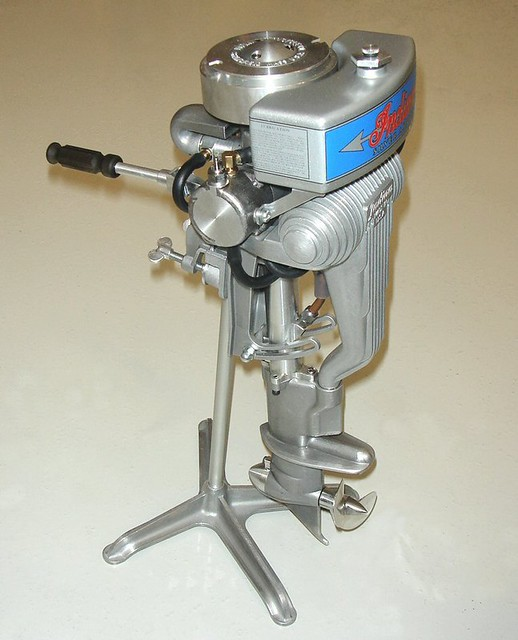 Indian Arrow Two Cylinder Outboard Boat Motor Designed