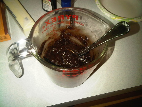 Chocolate Sauce after Sugar is Added