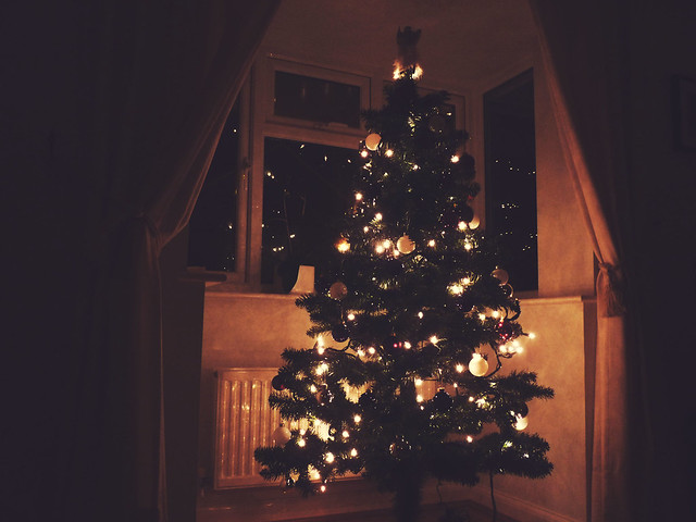 christmas tree is up