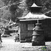 Stone Chorten and House at Lake Khecheopalri - Sikkim
