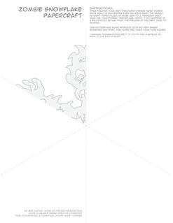 Zombie Snowflake Papercraft Template/Pattern
