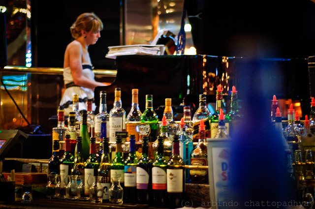 Lovely music and liquor. What else does a man want? | Flickr - Photo