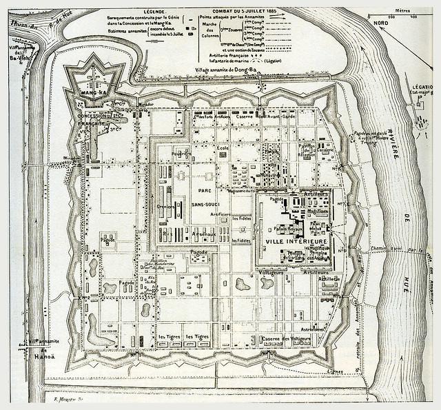 Hue - Plan de la Citadelle 1885