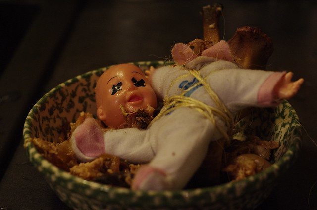 Baby in a bowl 2, dead baby
