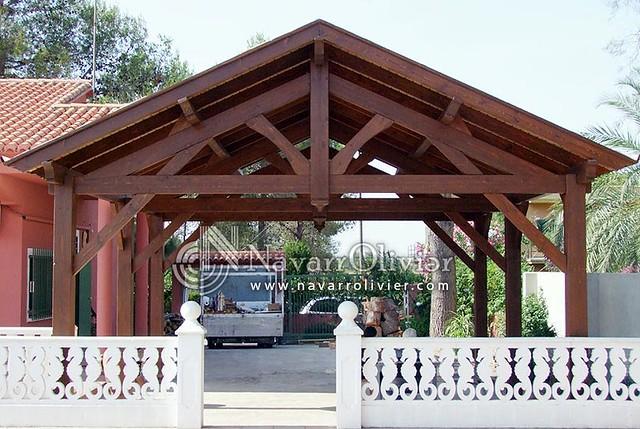 Cercha de madera tradicional flickr photo sharing - Pergolas de madera valencia ...