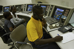 The control room at the thermal power station
