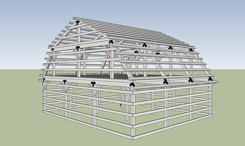 Nale gambrel barn construction Gambrel roof pole barn