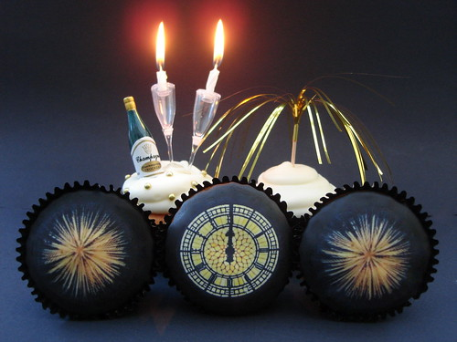 New Years Eve Big Ben and firework Cupcakes